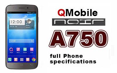 Qmobile A750 Noir4 MT6589 firmware | flash file