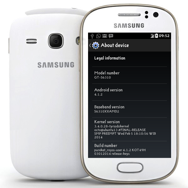 Samsung Galaxy Young S6310 Andriod 4.1.2 Firmware Flash File