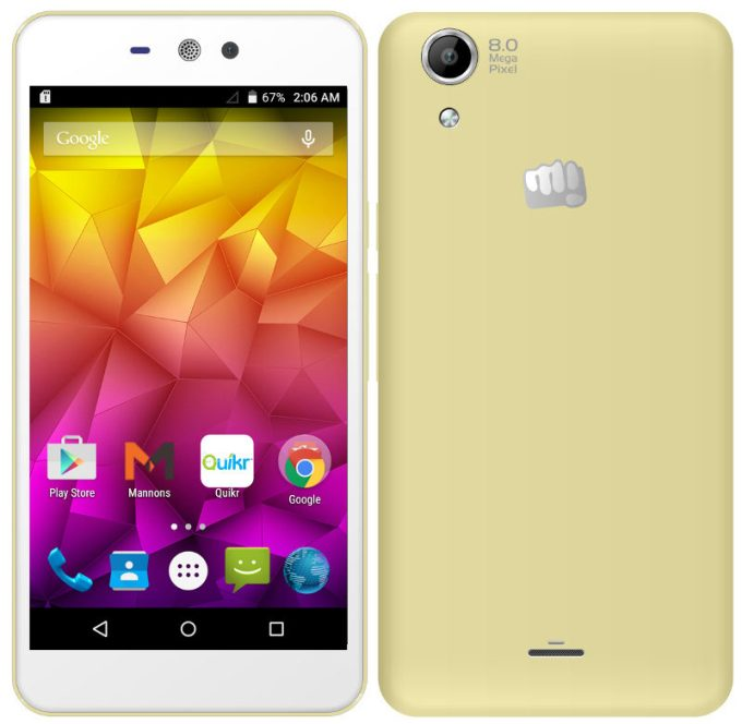 Micromax Q345 MT6582 Android 5.0 Firmware Flash File