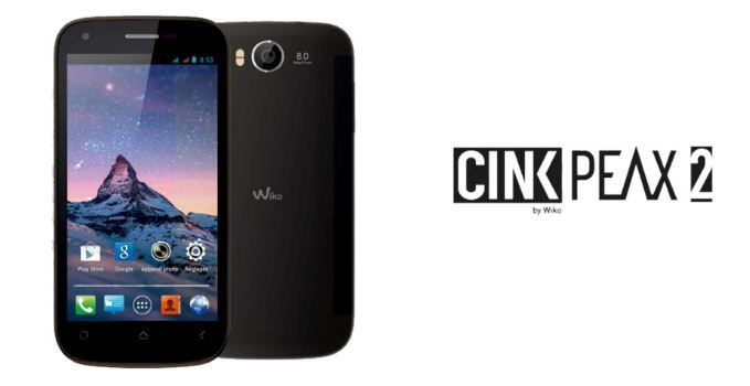 Wiko Cink Peax 2 Stock Firmware Android JB 4.1.2 Flash File